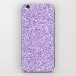 The Most Detailed Intricate Mandala (Violet Purple) Maze Zentangle Hand Drawn Popular Trending iPhone Skin