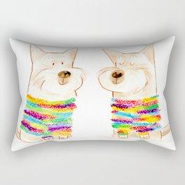 westie besties Rectangular Pillow