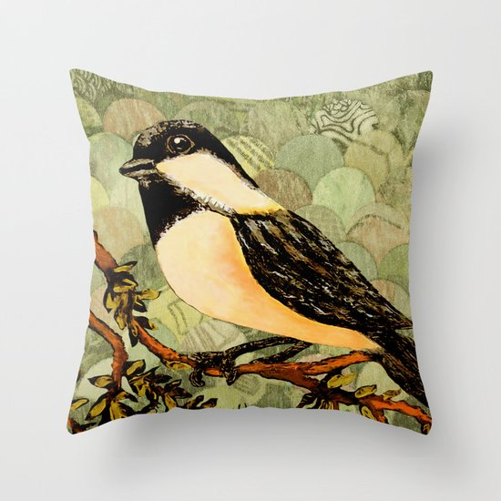 Winged Messenger Throw Pillow