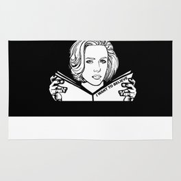 Dana Scully (black) Rug
