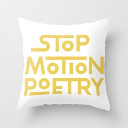 Stop Motion Poetry Logo Throw Pillow