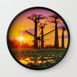 Avenue of the Baobabs, Madagascar Wall Clock
