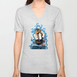 Cosmo At The Moon Palace Unisex V-Neck