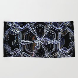 Water as a Crystal, pattern snowflake art on leggings and more! Beach Towel