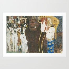 Beethoven Frieze Gustav Klimt Art Print
