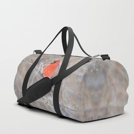Fire in the Winter (Northern Cardinal) Duffle Bag