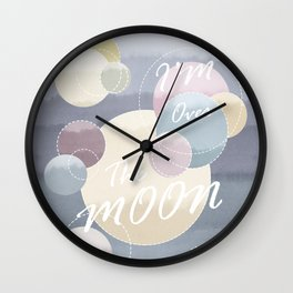 I'm Over the Moon Planetary Landscape Wall Clock
