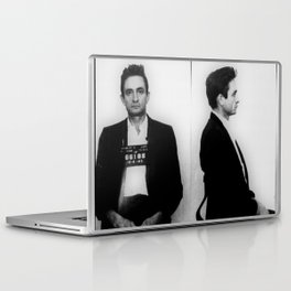 Johnny Cash Mug Shot Horizontal Laptop & iPad Skin