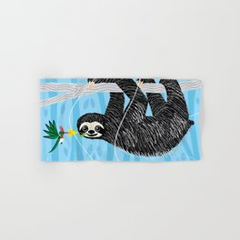 The Sloth and The Hummingbird Hand & Bath Towel