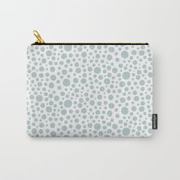 Hand drawn polka dot pattern - Green Carry-All Pouch