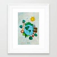planet Framed Art Prints featuring Planet by Design SNS - Sinais Velasco