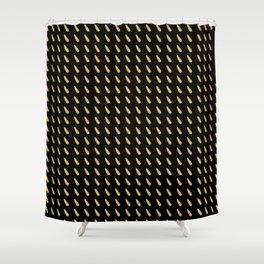 FLECK - gold foil drops on black Shower Curtain