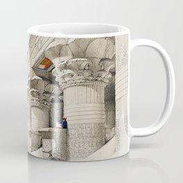 Temple Of Edfou (Edfu)  by David Roberts (1796-1864) Coffee Mug