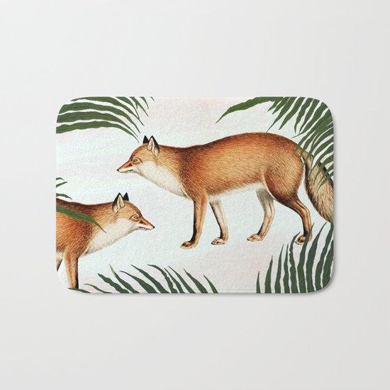 Red Fox Pair #society6 #buyart #decor Bath Mat