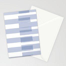 Big Stripes in Light Blue Stationery Cards
