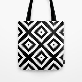 Tribal B&W Tote Bag