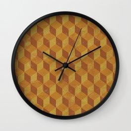 Golden Cube Wall Clock