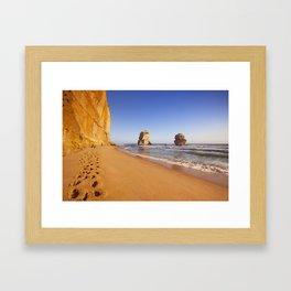 I - Twelve Apostles on the Great Ocean Road, Australia at sunset Framed Art Print