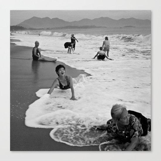 Bathing Woman in Vietnam - analog  Canvas Print