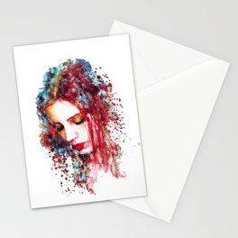 Sad Woman Stationery Cards