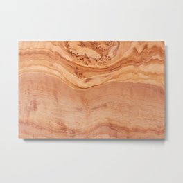 Olive wood board texture Metal Print