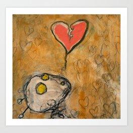 Heartbroken Bugbot in the Land of Love Art Print