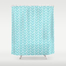 Herringbone Island Paradise Shower Curtain