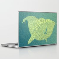 the whale Laptop & iPad Skins featuring Whale by Guapo