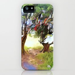 Wishing Tree on Tara Hill iPhone Case