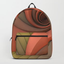 Spiral in Earth Tones Backpack