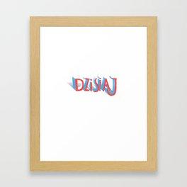 Dzisiaj Framed Art Print