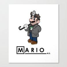 Mario M.D. Canvas Print