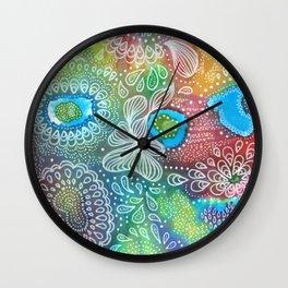 Water colors 1 - Rainbow corals Wall Clock