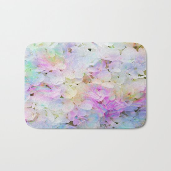 Marble Lights Hydrangea Bath Mat