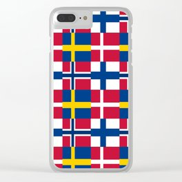 Flags of scandinavia2: finland, denmark,swede,norway Clear iPhone Case