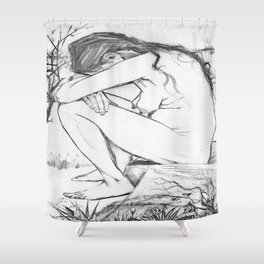Sorrow (After Vincent Van Gogh)  Shower Curtain