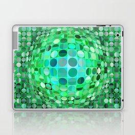 Optical Illusion Sphere - Green Laptop & iPad Skin