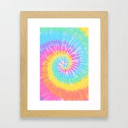 Rainbow Tie Dye Framed Art Print
