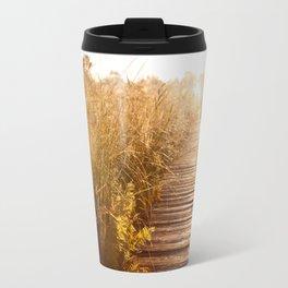 boardwalk and morass grass Travel Mug