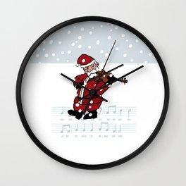 Swinging Santa - Violin Wall Clock