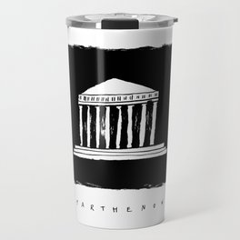 Parthenon in ink Travel Mug
