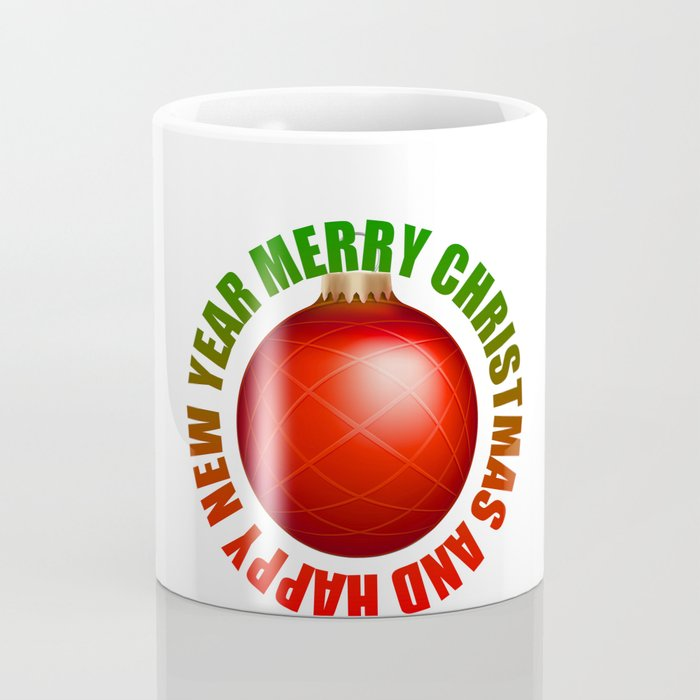 Merry Christmas Bulb Coffee Mug