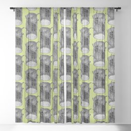 Mysterious Forest Creatures In Tree Log Sheer Curtain