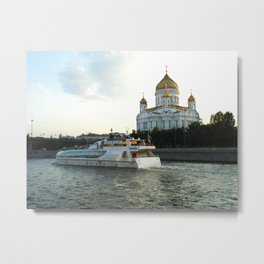 The Cathedral of Christ the Savior in Moscow Metal Print
