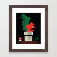 Pipe Down Framed Art Print