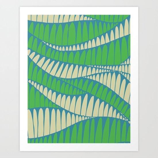 Sahara Desert in pastel colours 1 Art Print