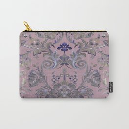 Painted Tibetan Brocade Mauve Carry-All Pouch