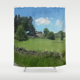 country landscape Holmfirth Shower Curtain