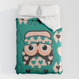 Owl and heart pattern Comforters