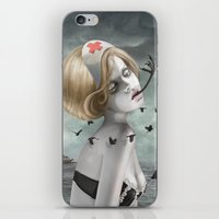 nurse iPhone & iPod Skins featuring The Nurse by Dolce B.